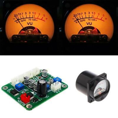 2pcs Vu Panel Meter Warm Back Light Recordingdurable Driver Board Modulecables