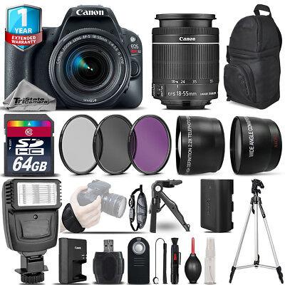 Canon EOS Rebel SL2 DSLR Camera + 18-55mm IS STM + 1yr Warranty -Ultimate Bundle