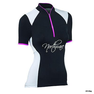 Maillot de Vélo Femme - NORTHWAVE 89131101 - Venus Jersey Noir/Fuchia T....