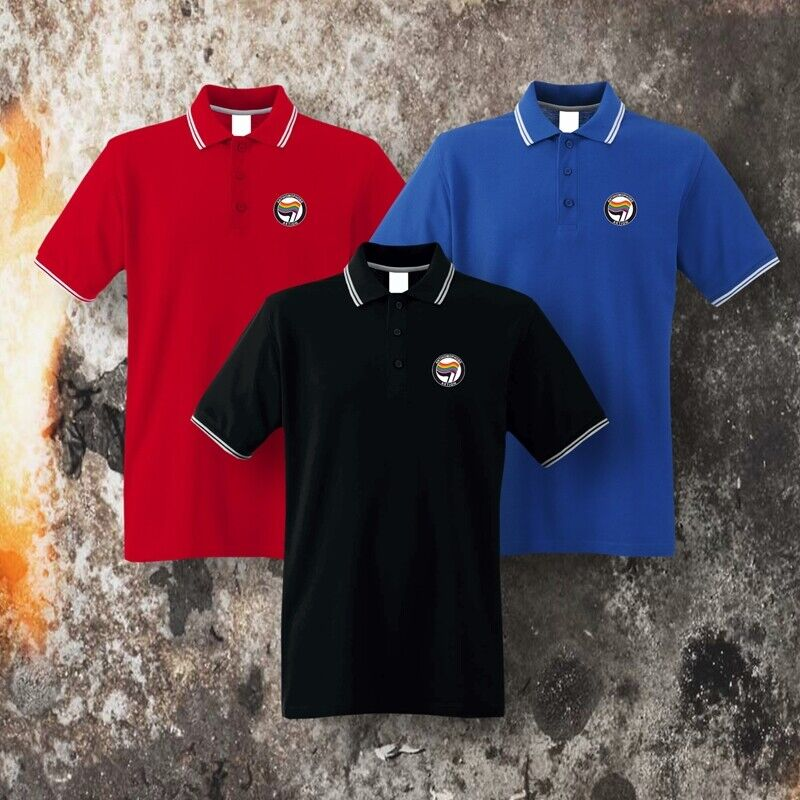 Polo-Shirt Motiv ANTIHOMOPHOBE AKTION small, S-3XL