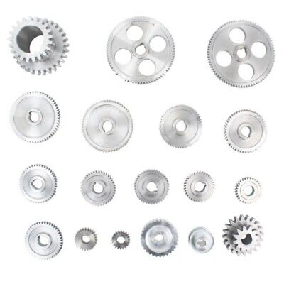 18pcsset Cj0618 Metal Gears Mini Lathe Gear Metal Cutting Machine Tool Ge O1h2