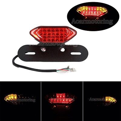 LED Rear end Light Motorcycle/ Chopper All In 1 Tail Turn Signal Brake Rego Plate