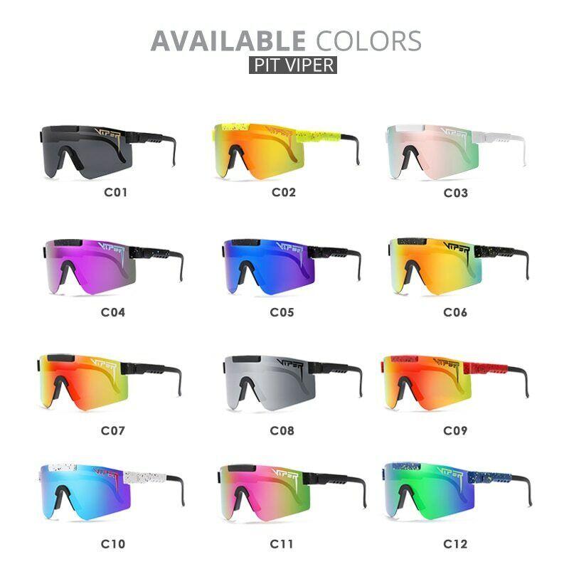 Choppers Herren Motorradfahrer Sonnenbrille UV400 Schwarz C11 B