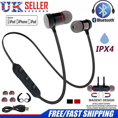 4.1 Bluetooth Sweatproof Wireless Earphones Headphones with Mic Sport Gym New