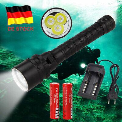 Wiederaufladbar 15000Lm LED Diving Tauchen Taschenlampe Tauchlampe AKKU bis