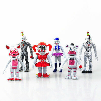 2017 New Five Nights At Freddys Action Figures New Edition Fnaf Toy 6Pcs