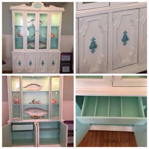 Vintage sideboard and hutch