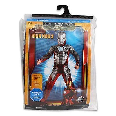 Costume Marvel Avenger IRON MAN 2 Mark V Muscle Jumpsuit + Mask Boy 4-6X NEW (Iron Man Mark 2 Costume)