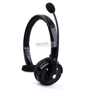 New Over The Head Boom Mic Wireless Bluetooth Noise-Canceling Headset Headphone