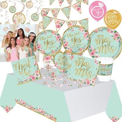 Bridal Shower Engagement Mint To Be Party Supplies Tableware Decorations - Mint Colored Balloons