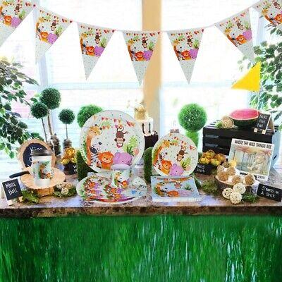 eg-Papier Geschirr Set Baby Dusche Geburtstag Party Dekor (Tiere, Baby-dusche)