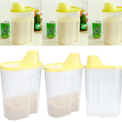 2.5L Large Dry Food Storage Container Scoop Plastic Cereal Pet Dog Cat Dispenser