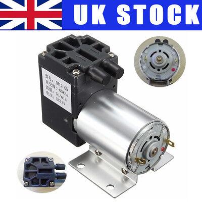 UK DC 12V 65-120kpa Mini Vacuum Pump Negative Pressure Suction Micro-pump 5L/min