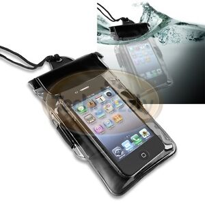 Black Universal Waterproof Bag Case for HTC Blackberry Samsung Mobile Cell Phone