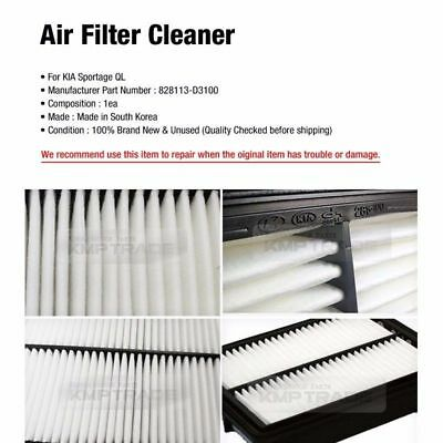 Genuine Parts 28113D3100 Air Filter Cleaner 1EA for KIA 2017 - 2018 Sportage QL