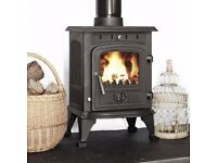4.5KW MULTIFUEL STOVE WILL FIT INSIDE FIREPLACE BURNS WOOD COAL TURF WE CAN DELIVER multi fuel