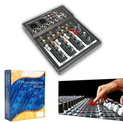 - Professional 4 Channel Portable Mixer Sound Mixing Console with USB KTV Karaoke