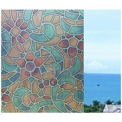 Static Cling Frosted Stained Self Adhesive Window Privacy Decorative Glass P5J1