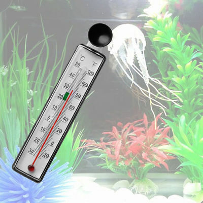 Hot Aquarium Fish Tank Thermometer Glass Meter Water Temperature Suction Cup CA