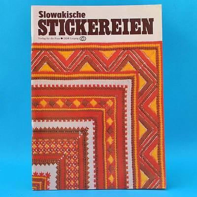 Slowakische Stickereien   Sticken   Verlag für die Frau   DDR 1986