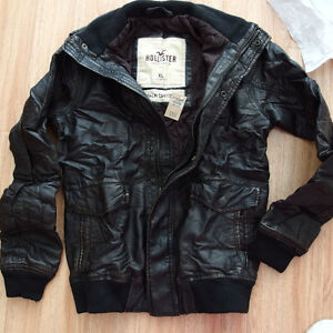 NWT Hollister Abercrombie Mens Palm Canyon 100% Genuine Leather