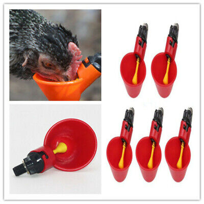 20pcs Poultry Water Waterer Chicken Hen Drinking Cups Plastic Automatic Drinker