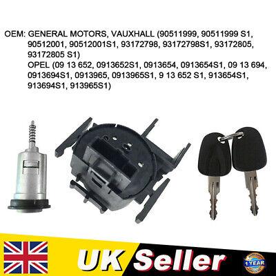 Ignition Switch Barrel + Keys For VAUXHALL Astra Mk3 Mk4 OPEL Astra F G Corsa UK