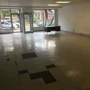 Grand Espace Commercial /Large Commercial Space Available