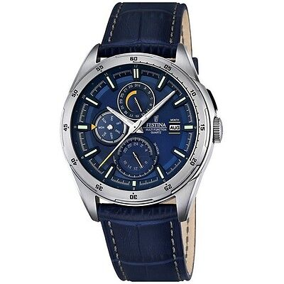 A Brand New Festina Gents F16877/2 Mult-Function Day/Date/Month Dress Watch