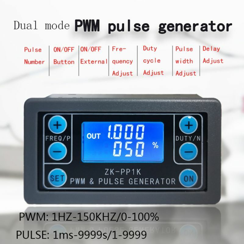 PWM Pulse Generator Frequency Duty Cycle Adjustable Module Square Wave Signal