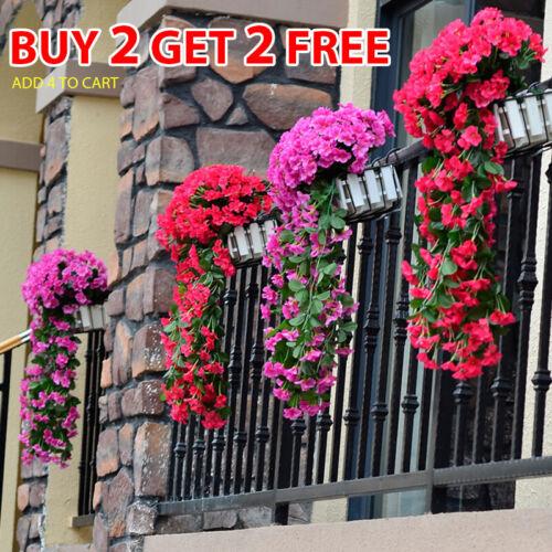 Home Decoration - Artifical Fake Flowers Ivy Vine Hanging Garland Plants Wedding Home Indoor Decor