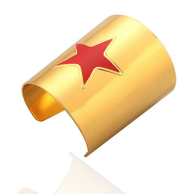 USA Wonder Woman Cosplay Metal Cuffs Bracelet Bangle Wristband Prop Accessories