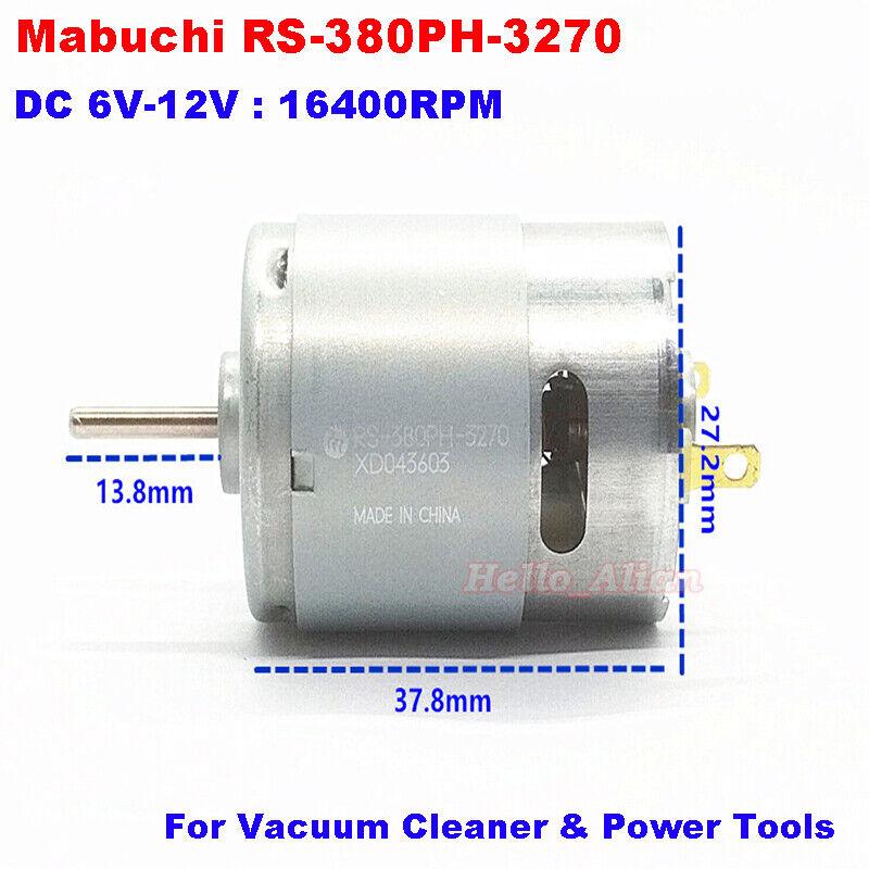 MABUCHI RS-380SH-3270 DC 5V-12V 16400RPM High Speed Carbon Brush Mini DC Motor