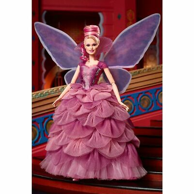 Nutcracker The Four Realms Sugar Plum Fairy Barbie Doll With Wings & Doll Stand Sugar Plum Fairy Wings