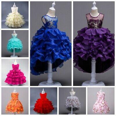 Flower Girl Dresses Princess Kids Dress Baby Birthday Party Wedding Pageant Tutu (Children's Princess Dresses)