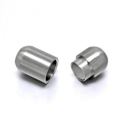 Edelstahl Magnet Verschluss matt oval Schmuckverschluss zum Einkleben  Magnetverschluss