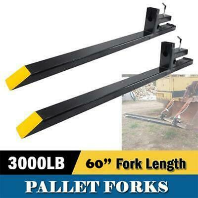 60 3000lbs Capacity Clamp On Pallet Forks Loader Bucket Skidsteer Tractor Chain