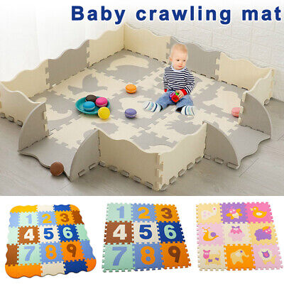 Puzzle Exercise Play Mats Crawling Mat Interlocking Foam Floor Tiles for Baby