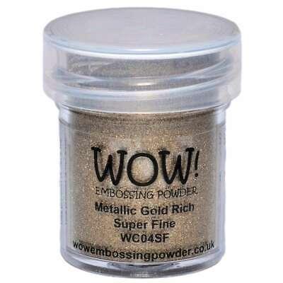 WOW! Embossing Powder Super Fine 15ml Gold Rich 5060210520137