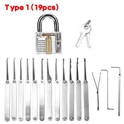 Unlocking Locksmith Practice Lock Pick Key Extractor Padlock Lockpick Tool Kits