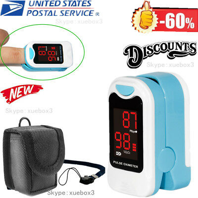 Finger Pulse Oximeter Blood Oxygen Saturation Spo2 Heart Rate Patient Monitor O2
