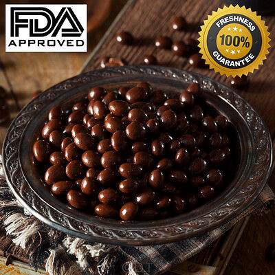 Dark Chocolate Covered Espresso Coffee Beans Fresh Gourmet Candy  1 2 5 Lb