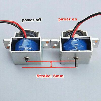 Dc 5v-12v 6v Push Pull Type Micro Mini Solenoid Electromagnet Electric Magnet