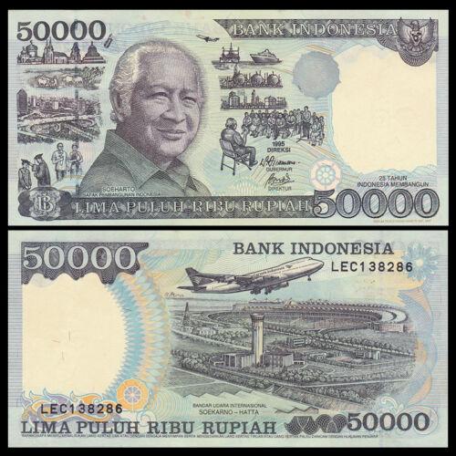 Indonesia 50000 50,000 Rupiah, 1995, P-136, UNC, Banknotes, Original