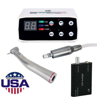 Us Dental Brushless Electric Led Micro Motor 15 Handpiece Led Head Light