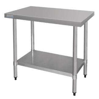 Silver Vogue Stainless Steel Prep Table Adjustable Under Shelf 90 Melbourne CBD Melbourne City Preview