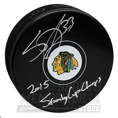 Scott Darling Chicago Blackhawks Signed Autographed Stanley Cup Inscribed Puck
