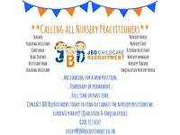 Temporary Nursery Staff; Level 3, Level 2 or unqualified (Full or Part time)