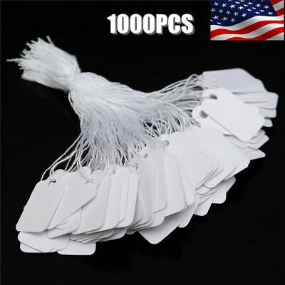 1000x Price Tags Marking Label Paper Key Small Lot For Retail Merchandise Store
