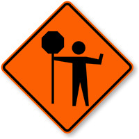 TRAFFIC CONTROL: Temporary Workplace Signers